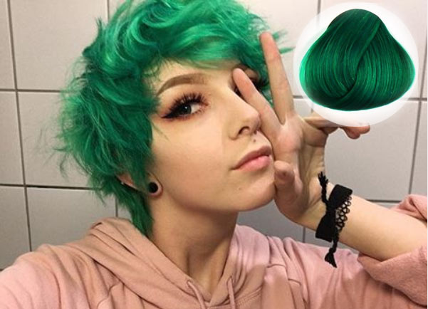 Apple Green Hair Colors