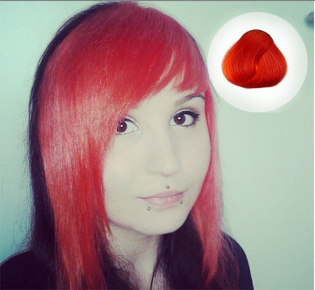 Coral Red Hair