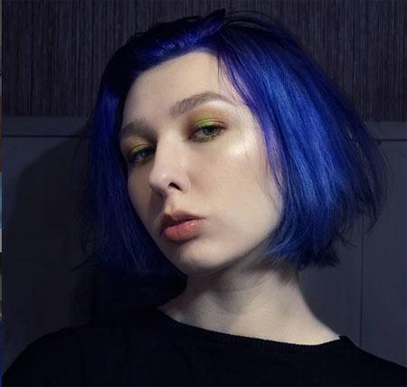 Neon Blue Hair Colors