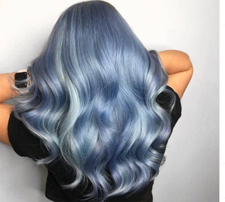 Denim Blue Hair Color