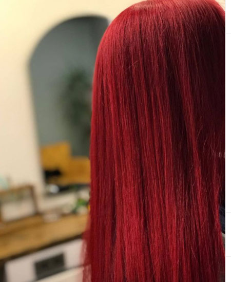 Wine Red Color Hair