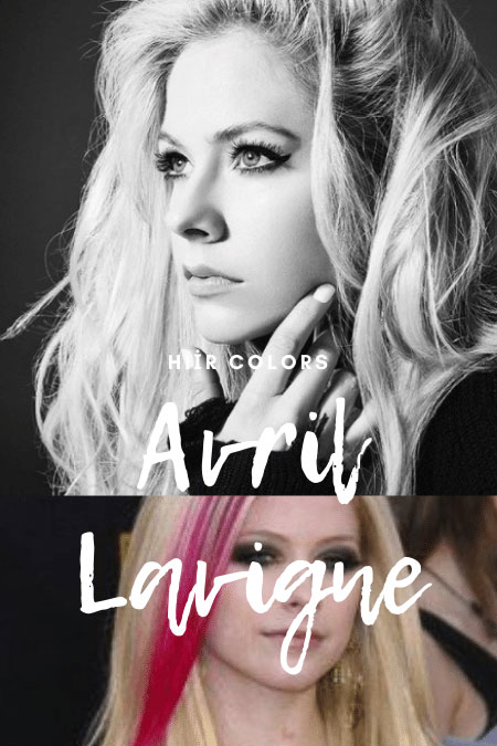 Avril Lavigne Hair Colors
