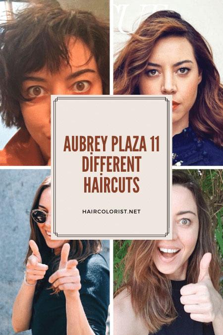 Aubrey Plaza Hair Color and Style