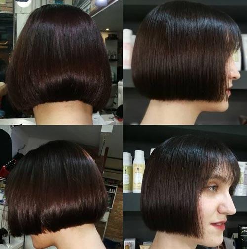 Flat Bob Hairstyle